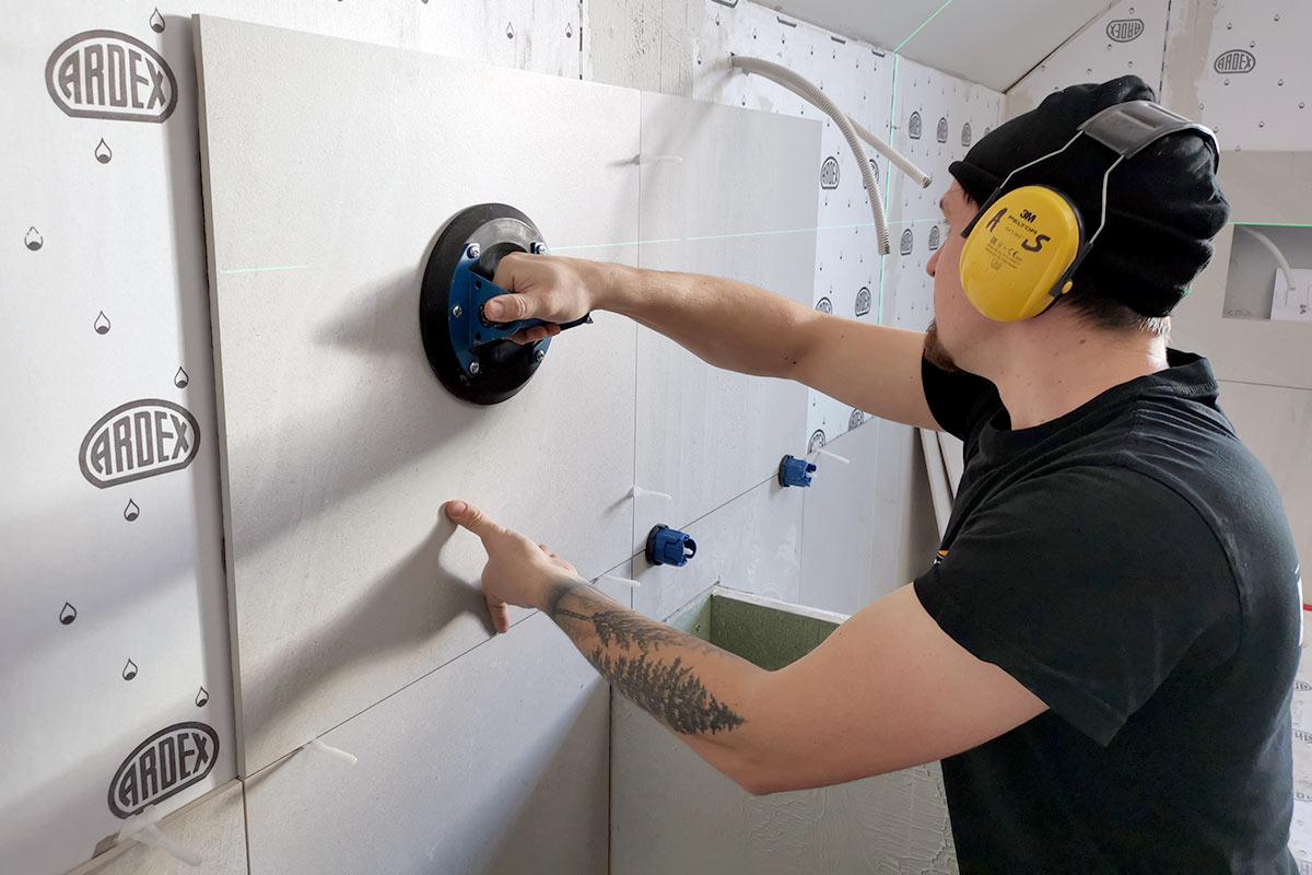 Montering av fliser på bad